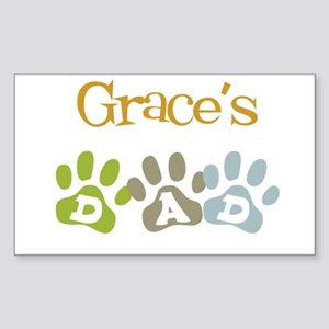 Grace's Dad Rectangle Sticker