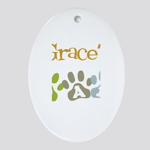 Grace's Dad Oval Ornament