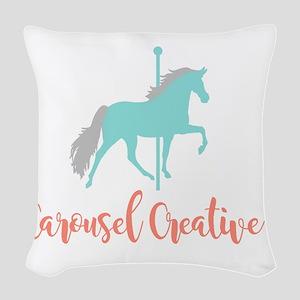 Carousel Creative Woven Throw Pillow