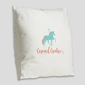 Carousel Creative Burlap Throw Pillow