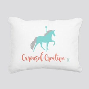 Carousel Creative Rectangular Canvas Pillow