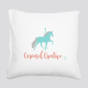 Carousel Creative Square Canvas Pillow