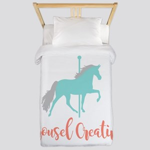 Carousel Creative Twin Duvet Cover
