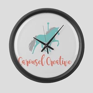 Carousel Creative Large Wall Clock