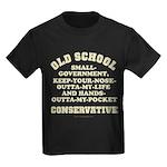Old School Conservative Kids Dark T-Shirt