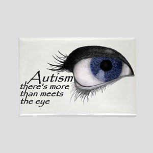 Autism Eye (Blue) Rectangle Magnet (10 pack)