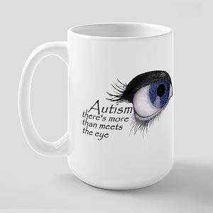 Autism Eye (Blue) Large Mug