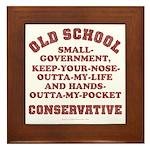 Old School Conservative Framed Tile