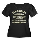 Old School Conservative Women's Plus Size Scoop Ne