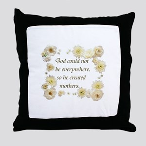 """""""Mother's - A Jewish Proverb"""" Throw Pillow"""