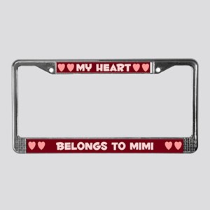 My Heart: Mimi (#007) License Plate Frame