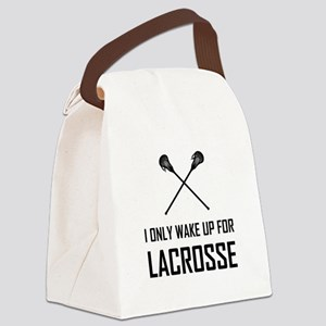 I Only Wake Up For Lacrosse Canvas Lunch Bag
