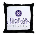 Templar University Throw Pillow
