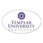Templar University Oval Sticker