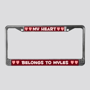 My Heart: Myles (#007) License Plate Frame