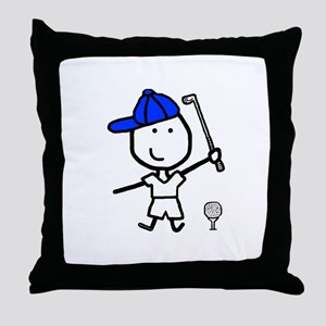 Boy & Golf Throw Pillow