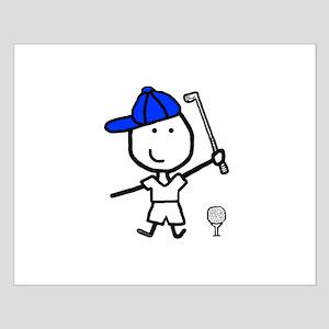 Boy & Golf Small Poster