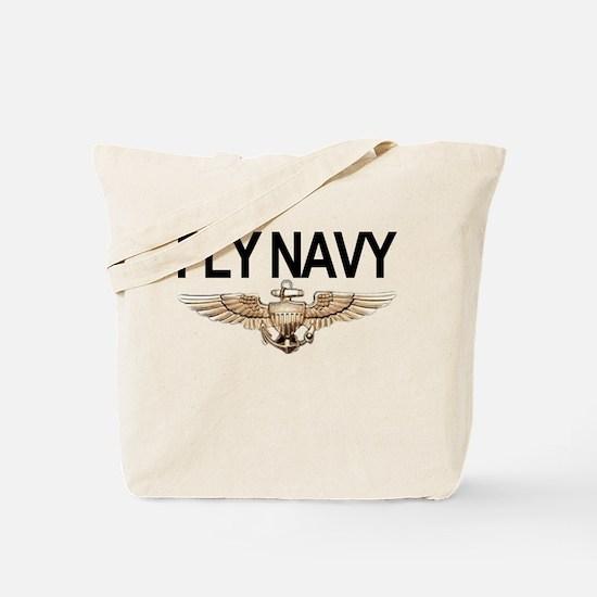 Fly Navy Wings Tote Bag