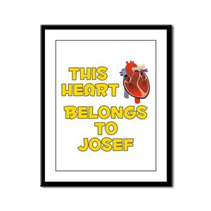 This Heart: Josef (A) Framed Panel Print