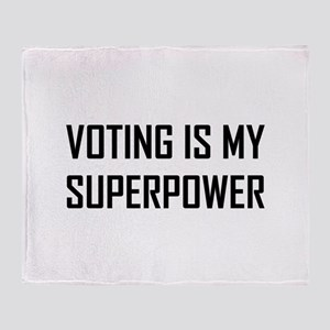 Voting Is My Superpower Throw Blanket