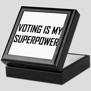 Voting Is My Superpower Keepsake Box