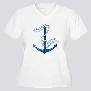 Jesus Christ is my Anchor Nautical Rope Plus Size