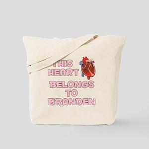 This Heart: Branden (C) Tote Bag