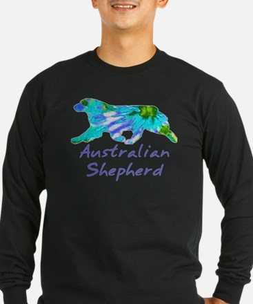 purple light and dark aussie gifts! Long Sleeve T-