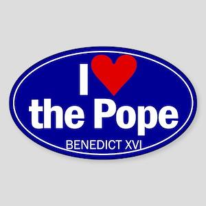 I Love Pope Benedict Oval Sticker