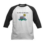 I'd Rather be with Papa Kids Baseball Jersey