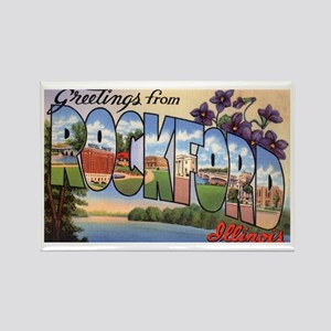 Rockford Illinois Greetings Rectangle Magnet