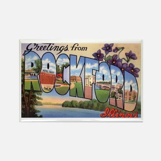 Rockford Illinois Greetings Rectangle Magnet