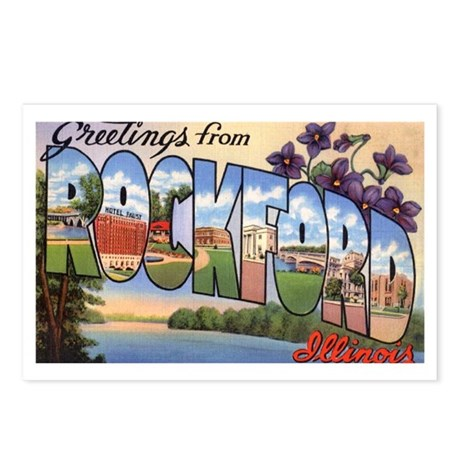Rockford Illinois Greetings Postcards (Package of