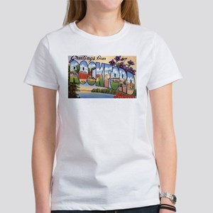 Rockford Illinois Greetings (Front) Women's T-Shir