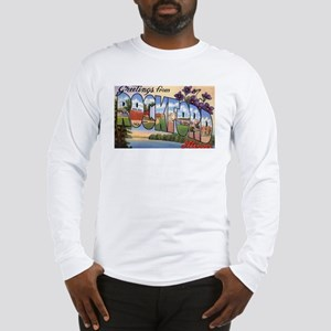 Rockford Illinois Greetings (Front) Long Sleeve T-