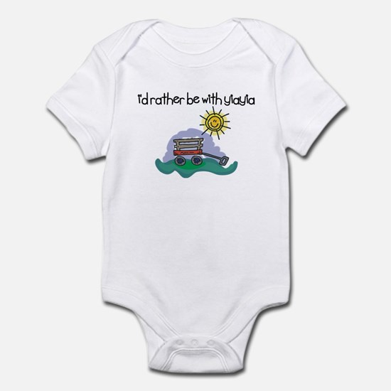 I'd Rather be with YiaYia Baby Onesie