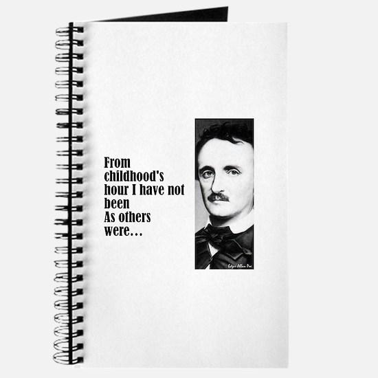 "Poe ""Childhood's Hour"" Journal"
