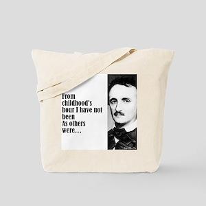 """Poe """"Childhood's Hour"""" Tote Bag"""