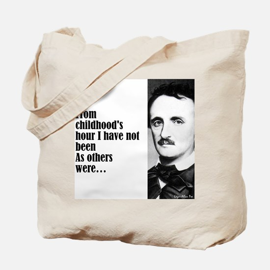 "Poe ""Childhood's Hour"" Tote Bag"