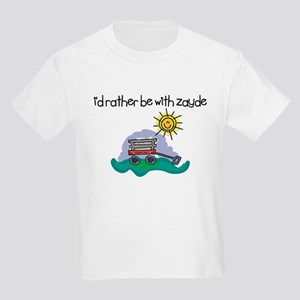 I'd Rather be with Zayde Kids Light T-Shirt