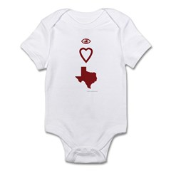 I Love Texas Infant Bodysuit