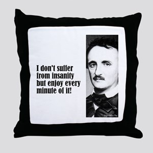 "Poe ""I Don't Suffer"" Throw Pillow"