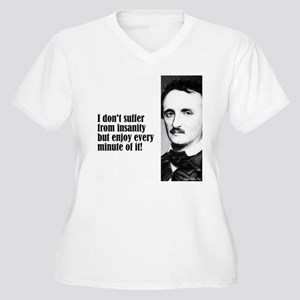 "Poe ""I Don't Suffer"" Women's Plus Size V-Neck T-Sh"