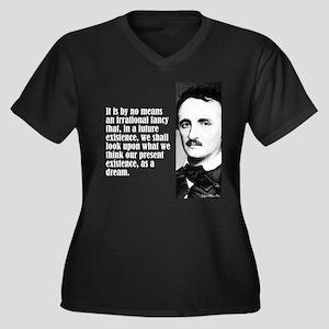 "Poe ""Irrational Fancy"" Women's Plus Size V-Neck Da"