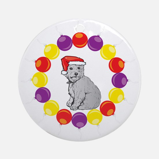 Christmas Ornaments Westie Ornament (Round)