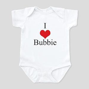 I Love (Heart) Bubbie Baby Onesie