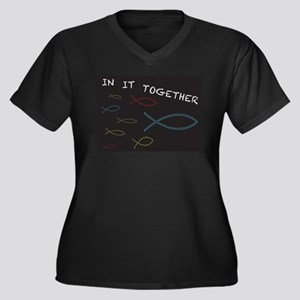 Christian Fish in it Together Plus Size T-Shirt