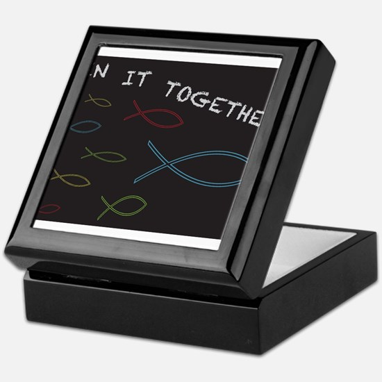Christian Fish in it Together Keepsake Box