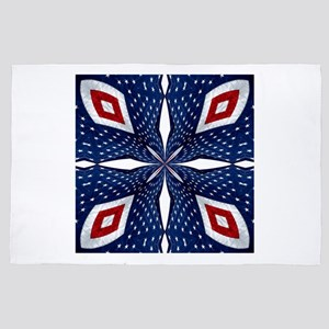 American Flag Kaleidoscope Mandala 3 4' x 6' Rug