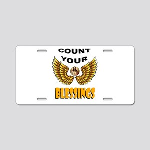 BLESSINGS Aluminum License Plate